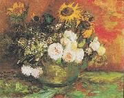 Bowl with Sunflowers